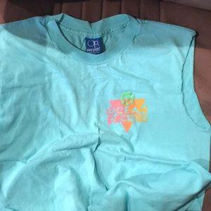 Vintage 1980 Ocean Pacific T-shirt Cut-Off sleeves